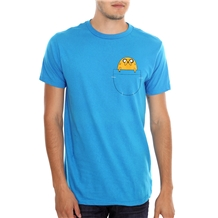 adventure time jake in pocket t-shirt