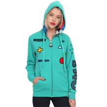 Adventure Time Beemo Standing Junior Womens Hoodie