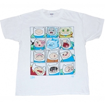 Adventure Time Many Faces Of Finn Youth T-Shirt
