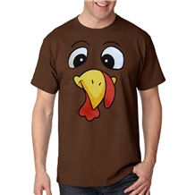 Thanksgiving Turkey Face T-Shirt