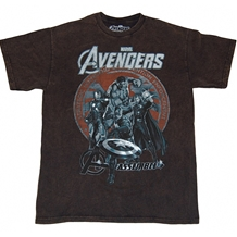 Avengers Battle Mineral Wash T-Shirt