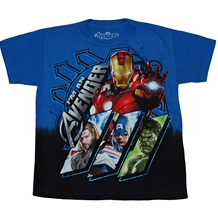 Avengers Movie Lineup Kids Juvy T-Shirt
