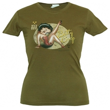 Betty Boop WWII Pinup Junior Tee