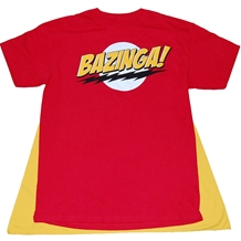 Big Bang Theory Red Bazinga Caped T-Shirt