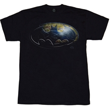 Batman Metal Shield Logo T-Shirt