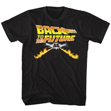 Back To The Future Delorean FlamesT-Shirt