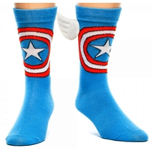 Captain America Crew Socks with Wings