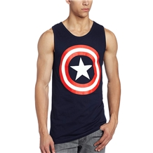 Captain America Classic Shield Logo Adult Tank Top