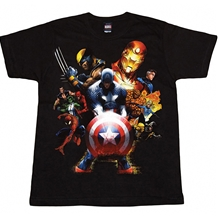 Captain America & Soldiers Adult TShirt