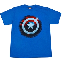 Captain America Shield Youth Kids T-Shirt