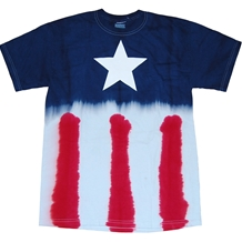 Captain America Star Tie Dye T-Shirt