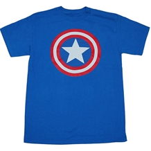 Captain America Classic Shield Royal T-Shirt