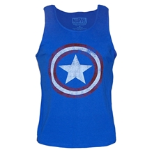 Captain America Distressed Shield Tank Top