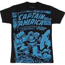 Captain America Mad Bomb Distressed T-Shirt