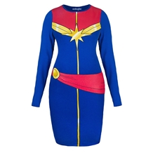 I Am Captain Marvel Body Con Dress