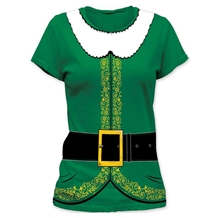 Elf Costume Junior Ladies T-Shirt