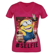 Despicable Me Selfie Minion Junior V-Neck Shirt