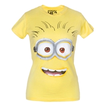 Despicable Me Minion Face Junior Ladies T-Shirt