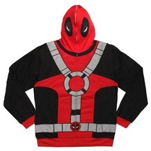 Deadpool Full Zip Mask Hoodie