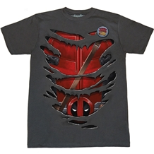 Deadpool Ripped Costume T-Shirt