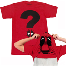 Deadpool Question Mark Flip Over Mask T-Shirt