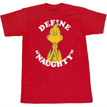 Dr. Suess Grinch Define Naughty T-Shirt