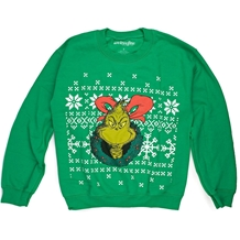 Dr Suess Grinchin Ugly Christmas Sweater