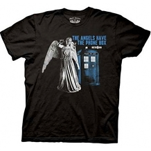 Doctor Who Angels Have Phone Box T-