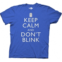Doctor Who Keep Calm and Don't Blink T-Shirt