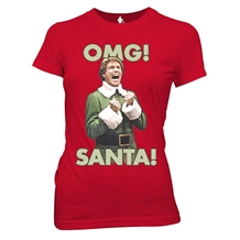 Elf OMG Santa Ladies T-Shirt