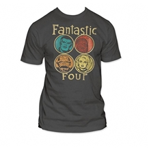 Fantastic Four Circle Portrait T-Shirt