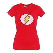 Flash Distressed Symbol Junior Ladies T-Shirt