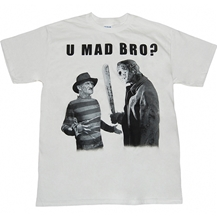Freddy vs Jason U Mad Bro T-Shirt