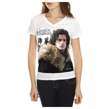 Game of Thrones Jon Snow Junior Women's V-Neck Shirt