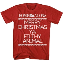 Home Alone Merry Christmas Ya Filthy Animal Crosstitch T-Shirt