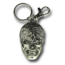 Incredible Hulk Head Pewter Key Chain