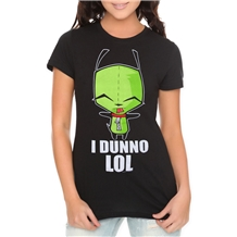 Invader Zim I Dunno Junior Womans T-Shirt
