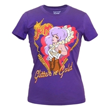 Jem Glitter and Gold Junior Ladies T-Shirt