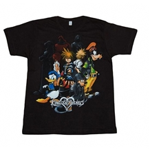 Kingdom Hearts Group Adult T-Shirt