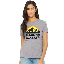 The Lion King Hakuna Matata Junior Women's T-Shirt Grey Heather
