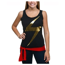 Ms Marvel Tie Waist Racer Tank Junior Womans