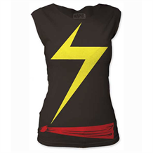 Ms. Marvel Suit  Junior Women's Cut T-Shirt