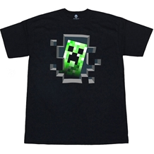 Minecraft Creeper Inside Youth Kids T-Shirt