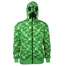 Minecraft Creeper Zip-Up Costume Adult Hoodie