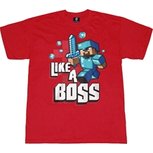 Minecraft Like A Boss Adult T-Shirt