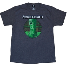 Minecraft Retro Creeper Adult T-Shirt