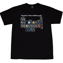Minecraft Periodic Table Adult T-Shirt