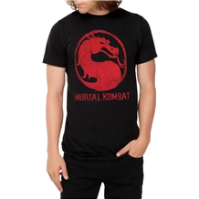Mortal Kombat Classic Logo Distressed T-Shirt