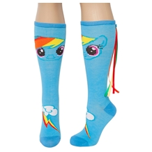 My Little Pony Rainbow Dash Knee High Socks with Tail