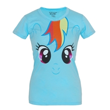 My Little Pony Rainbow Dash Face Junior Women's T-Shirt
